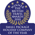 British Travel Awards 2010 - Winner of small package holiday company of the year