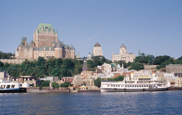 Quebec attractions from river