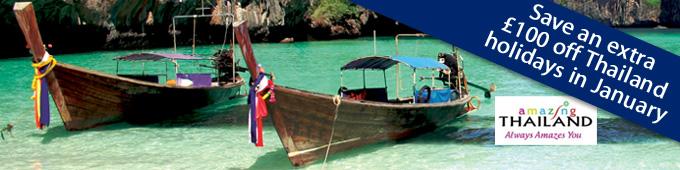 Save up to an extra £100 on holidays to Thailand
