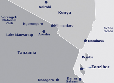 Map of Tanzania Game Parks
