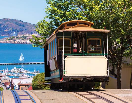 San Francisco Cable Car and Alcatraz