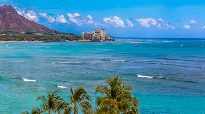 Waikiki and Diamond Head