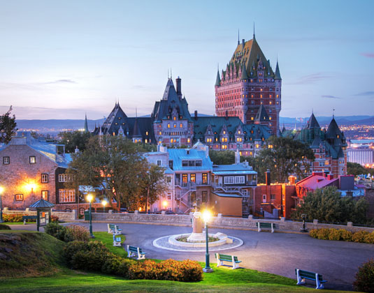 Frontenac Castle in Old Quebec
