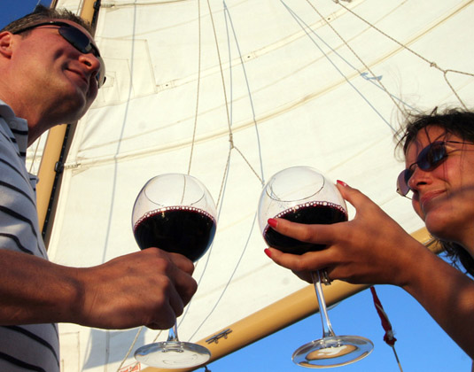 Wine and Wind Sunset Sail excursion