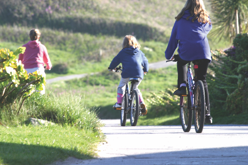 Family Cycling in Tresco, Isles Of Scilly