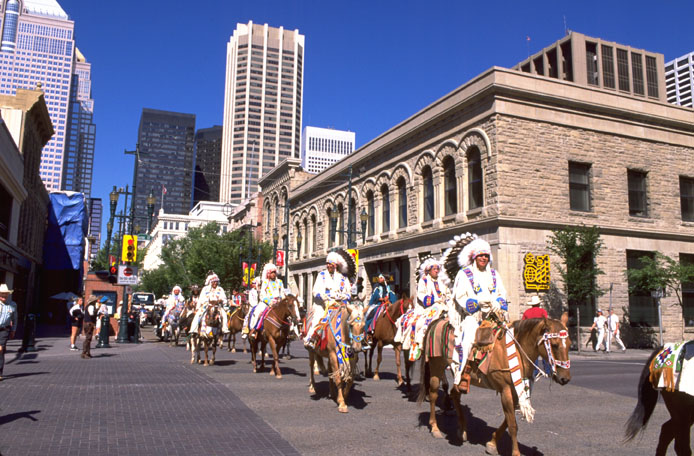 Native Horsemen Calgary Stampede Parade