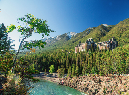 Fairmont Banff Springs - Exterior in summer