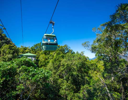Kuranda Rail, Skyrail & Tjapukai excursion