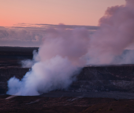 Halemaumau Crater in early Morning