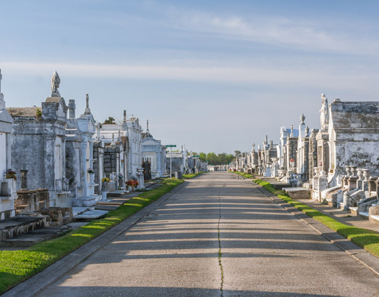 Classical Colonial French Cemetery in New Orleans