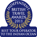 British Travel Awards 2011 - Winner of the best tour operator to the Indian Ocean