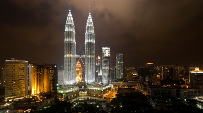 Enjoy panoramic views from the Petronas twin towers