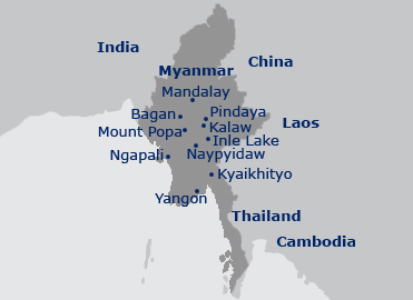 Map of Inle Lake