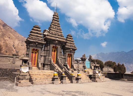 Hindu temple, Mount Bromo