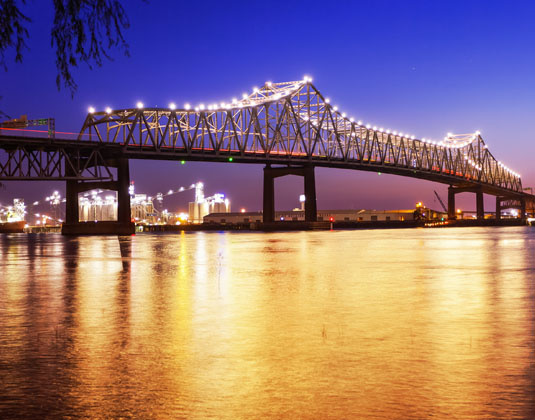 Horace Wilkinson Bridge, Mississippi River