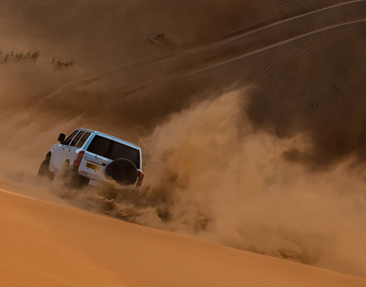 1000 Nights Camp, dune driving