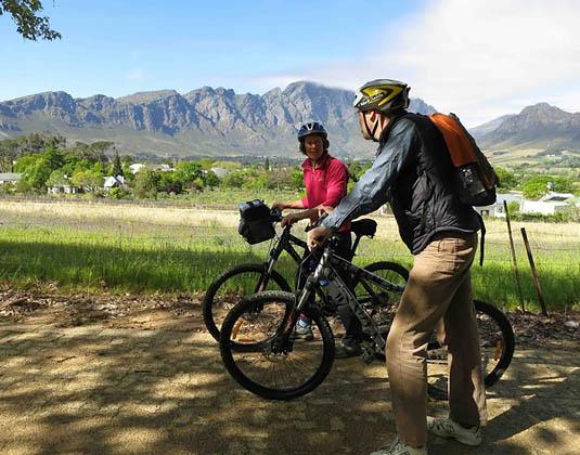 Winelands Biking excursion