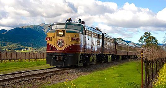 Napa Valley Wine Train Gourmet Express Lunch excursion