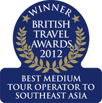 British Travel Awards 2012 - Winner of the best medium tour operator to Southeast Asia