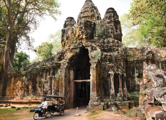 East ancient gate to Angkor Wat