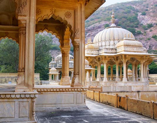 Royal cenotaphs in Jaipur