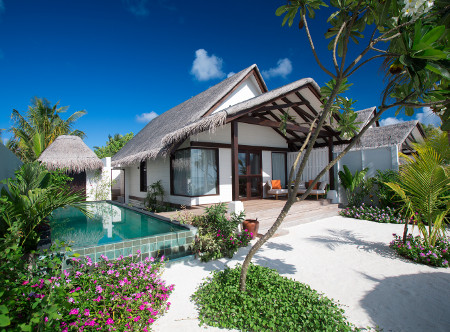 Ozen by Atmosphere at Maadhoo - Earth Family Suites,  Exterior view from Beach