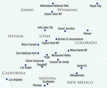 Map of Las Vegas & The West
