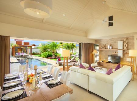 The Villas of Clos du Litoral - 3 Bed Villa Living Area