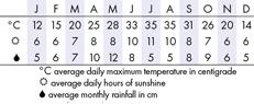 Dallas Climate Chart