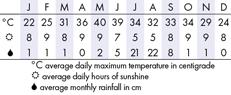 Jaipur Climate Chart