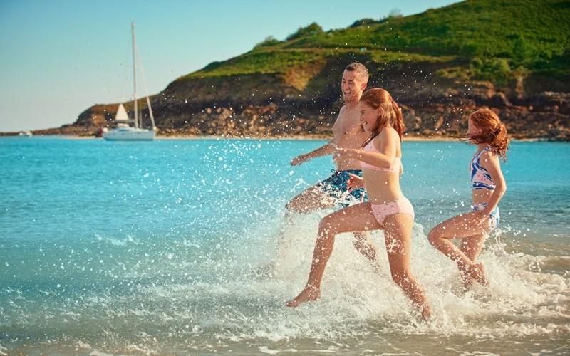 Guernsey Families on Beach
