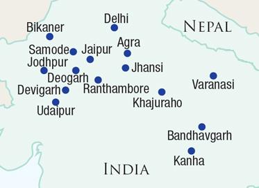 Map of Wildlife experiences