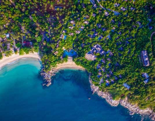 Santhiya Koh Phangan - Aerial