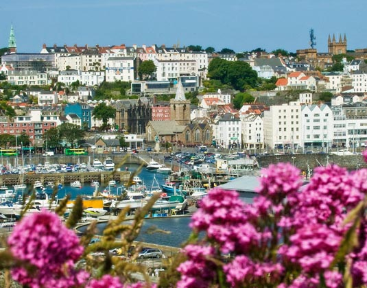 Guernsey, Seafront view from Castle Cornet