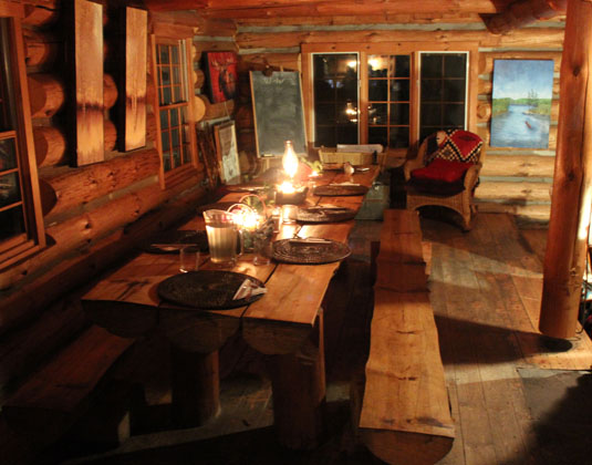Algonquin Provincial Park - Log Cabin Retreat, Dining room