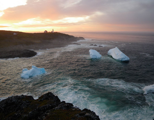 Quirpon Lighthouse - Icebergs