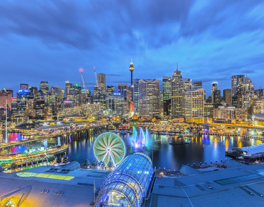 View of Darling Harbour