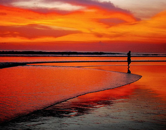 Sunset on beach, Seminyak