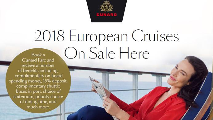 Cunard 2019 cruises