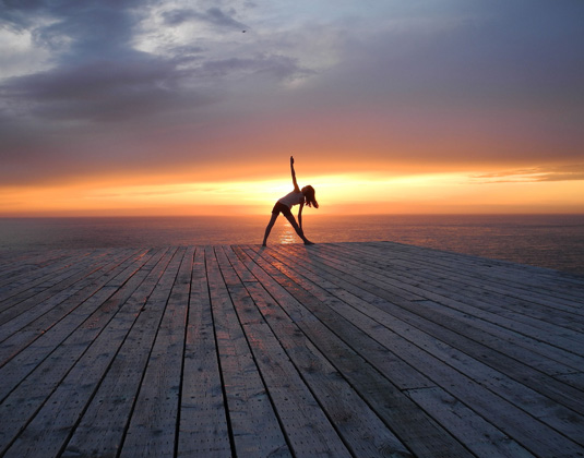Quirpon Lighthouse - Yoga at sunset