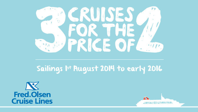 Fred.Olsen Cruise Lines 3 for 2