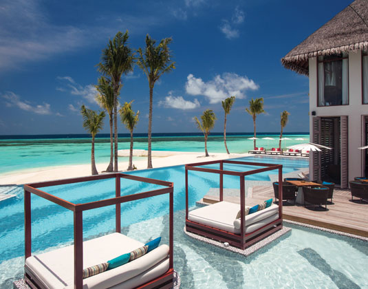 Ozen by Atmosphere at Maadhoo  - Joie De Vivre Cabanas and Pool with View