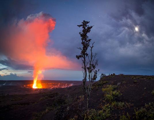 Halemaumau Crater, Kilauea Caldera, Hawaii Volcanoes National Park