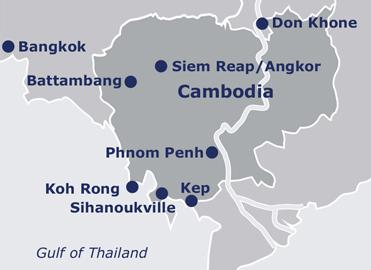 Map of River Cruising