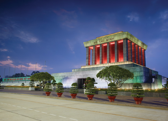 Ho Chi Min mausoleum in Hanoi