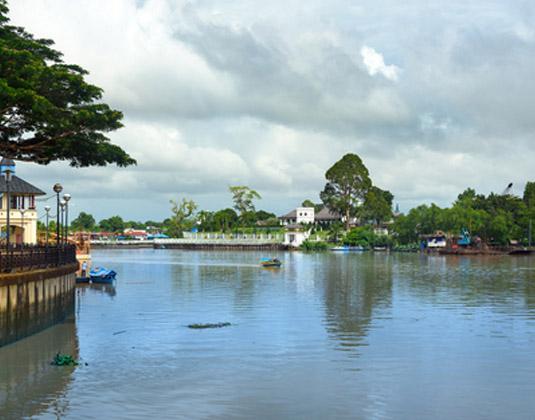 Sarawak river Kuching city