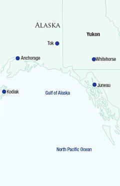Map of Alaska & the Yukon