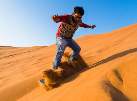 Desert Nights Camp - Sand Boarding