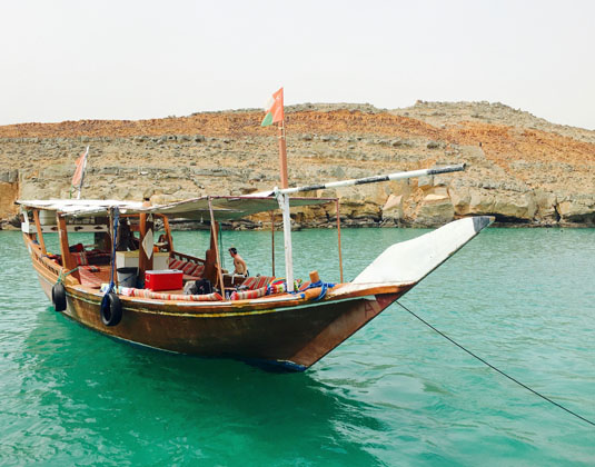 Dhow boat in Khasab Hormuz, Musandam,