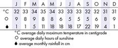 Bangkok, Thailand Climate Chart